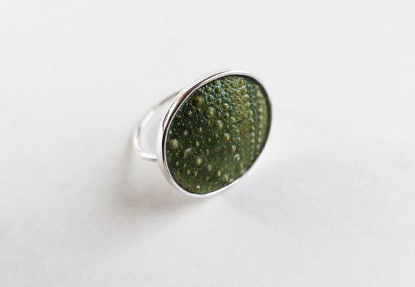 KJ103 Big Sea Urchin Ring – Green 1