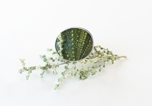 KJ103 Big Sea Urchin Ring – Green 2