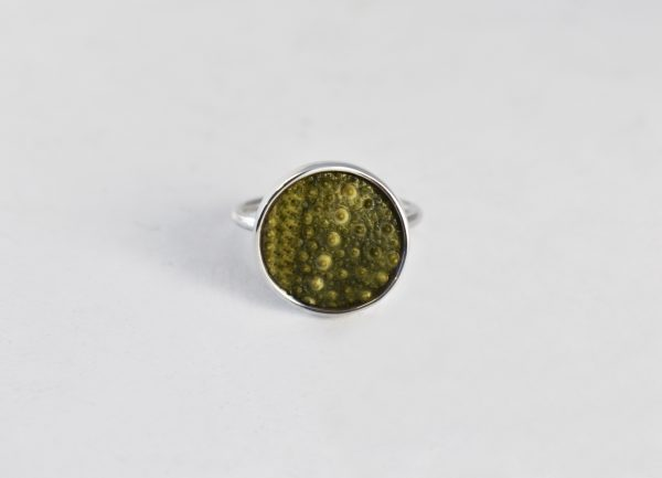 KJ104 Green Sea Urchin Ring 1