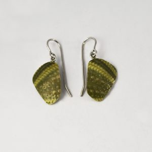 Dangling Green Sea Urchin Earrings