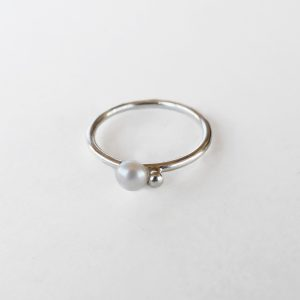 KJ206 Bubble Pearl Ring 1