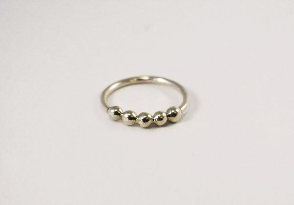 KJ306 Five Bobble Urchie Ring 1