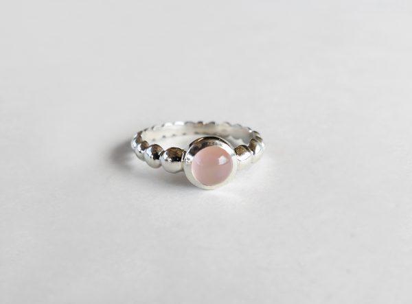 KJ805 Bubble Rose Quartz Ring 1