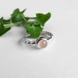 Rose Quartz Bubble Ring