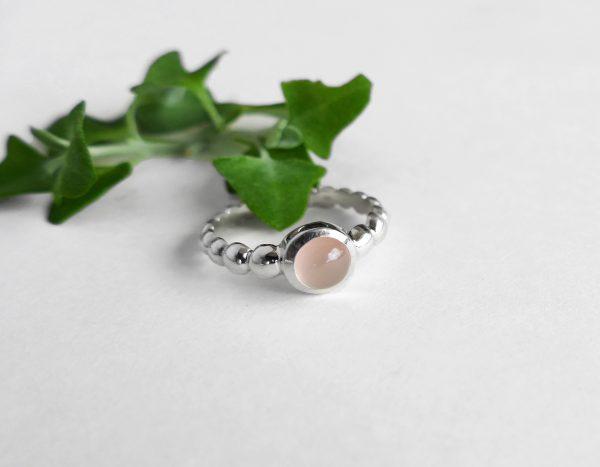 KJ805 Bubble Rose Quartz Ring 2