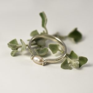 Rivited Pearl Ring