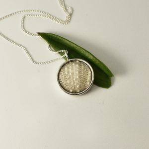 Small White Sea Urchin Necklace