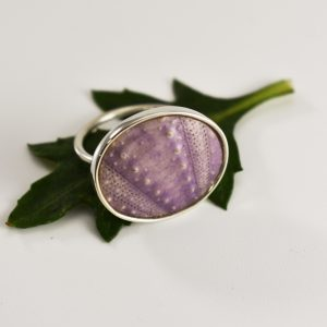 Big Purple Sea Urchin Ring