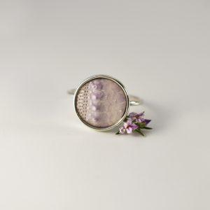 Purple Sea Urchin Ring