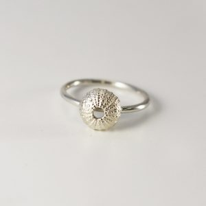 Baby Silver Sea Urchin Ring