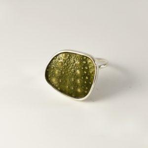 Green Geo Sea Urchin Ring