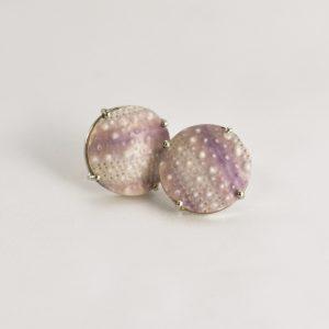 Purple Sea Urchin Studs