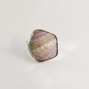 Purple Geo Sea Urchin Ring