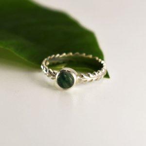 Green Agate Wreath Ring
