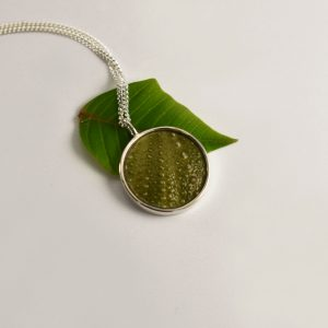 Round Green Sea Urchin Necklace