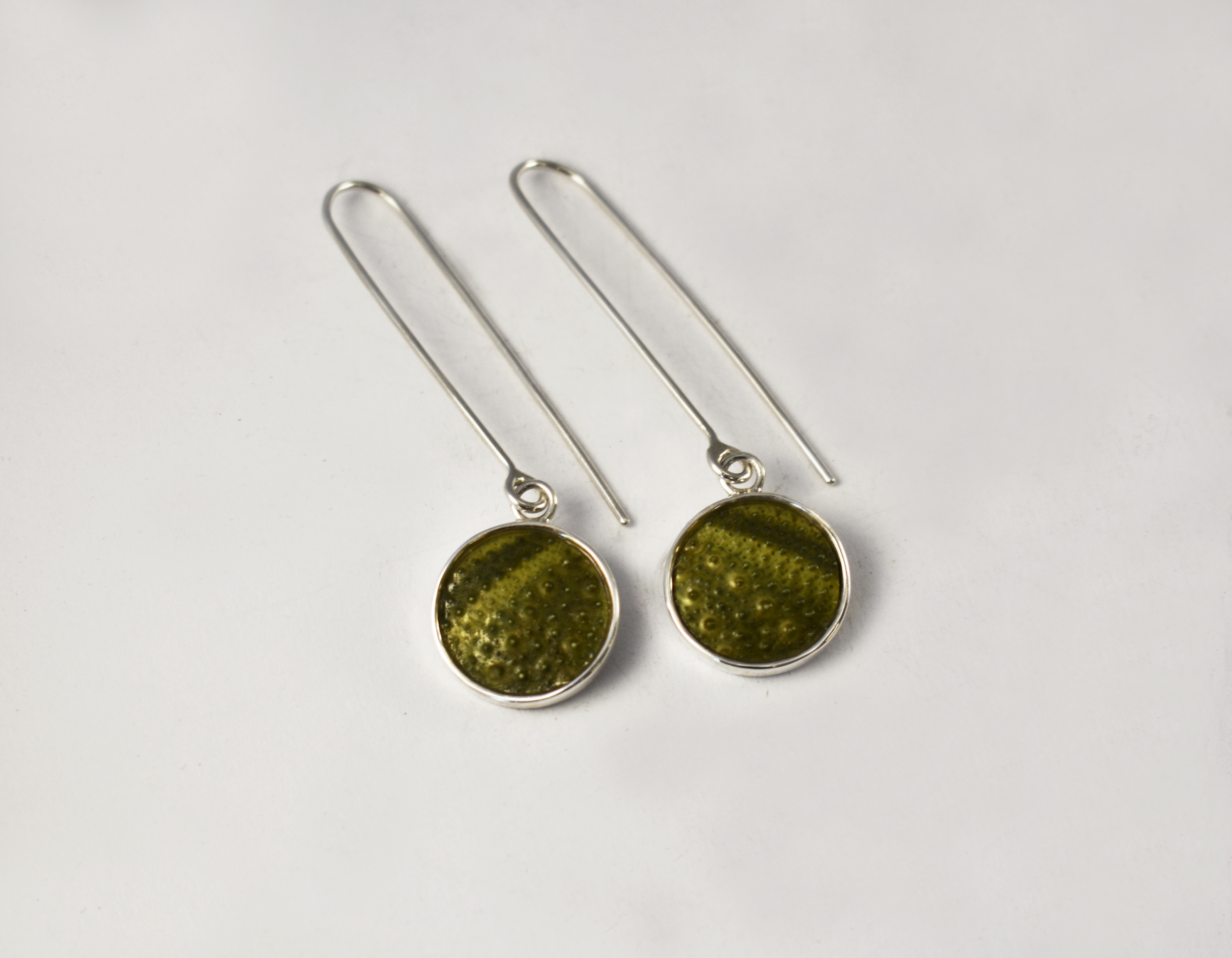 KJ112 Dangling Sea Urchin Earrings 1