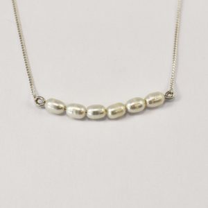 White Candy Pearl Necklace