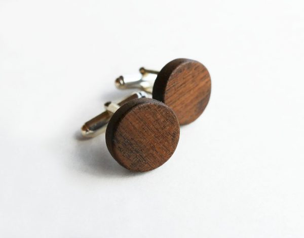 KJ504 Wooden Cufflinks