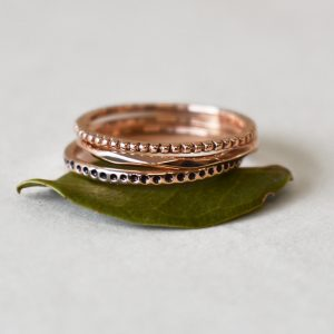 9ct Rose Gold Urchie Stacking Rings