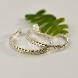 Wreath Hoop Earrings