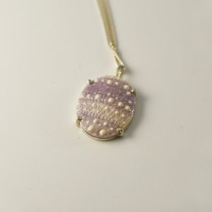 Oval Lilac Sea Urchin Necklace