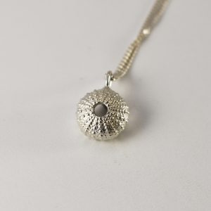 Baby Silver Sea Urchin Necklace