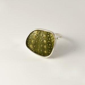 Green Geo Sea Urchin Ring