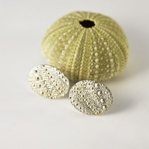 Sea Urchin Texture Oval Studs