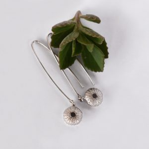 Baby Silver Sea Urchin Earrings