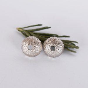 Silver Sea Urchin Studs