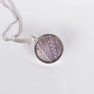 Round Lilac Sea Urchin Necklace