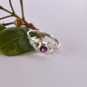 Floret Rhodolite Leafy Ring